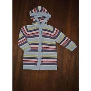 Gymboree Winter Princess Striped Sweater Duster 3T